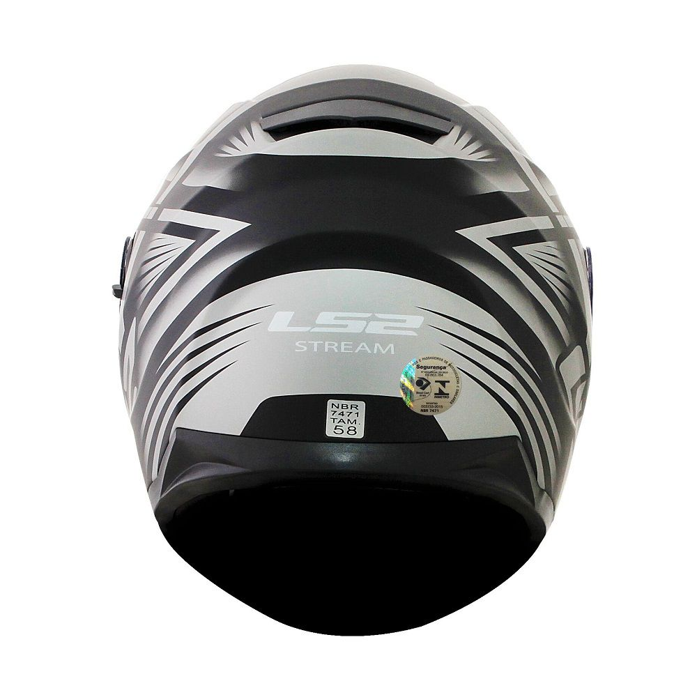 CAPACETE LS2 FF320 STREAM BANG PRETO CINZA