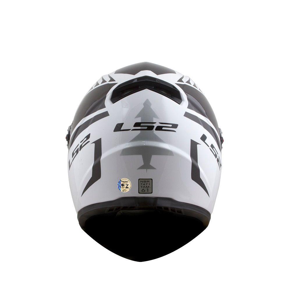 CAPACETE LS2 FF358 CLASSIC AIR FIGHTER BRANCO PRETO