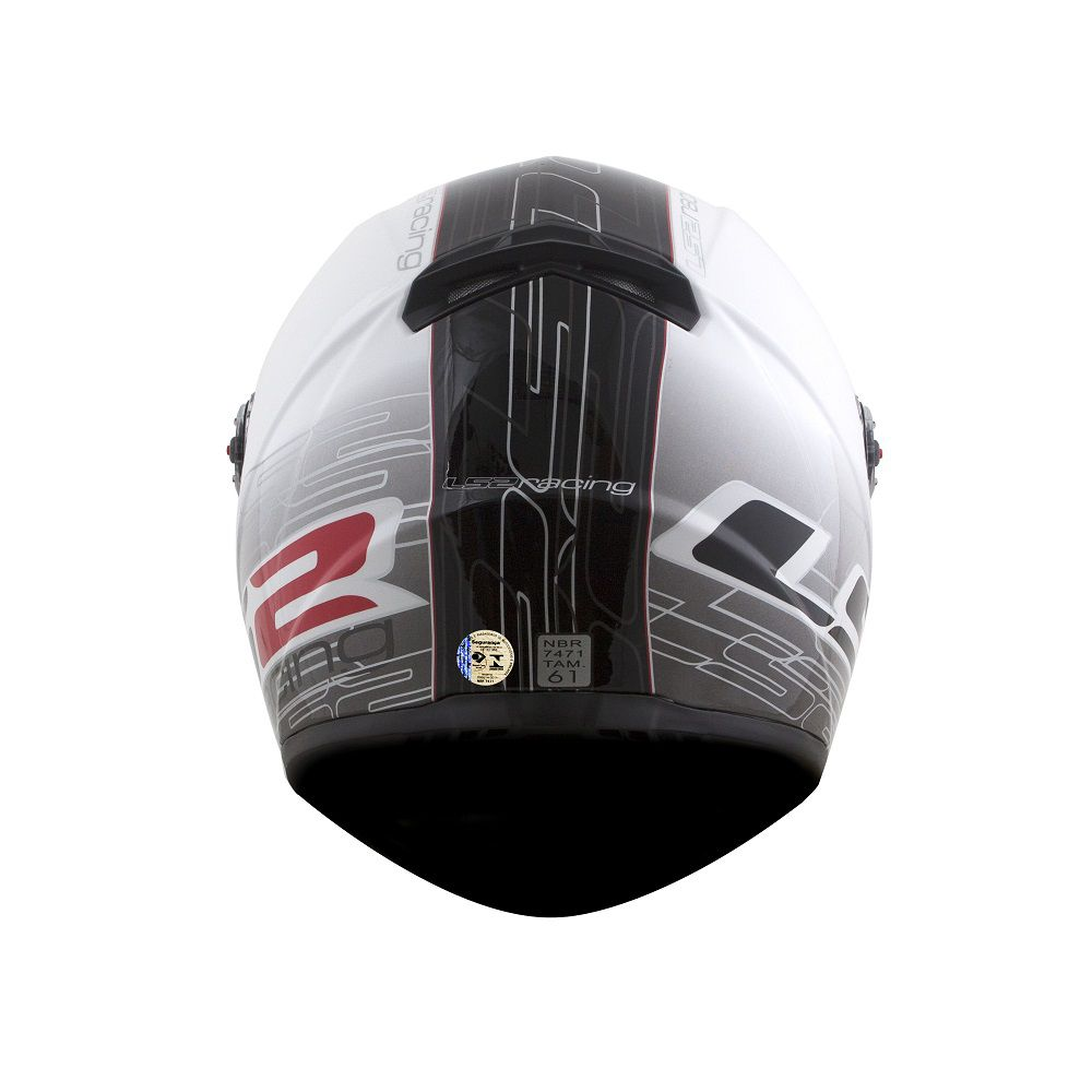 CAPACETE LS2 FF358 CLASSIC RACING BRANCO