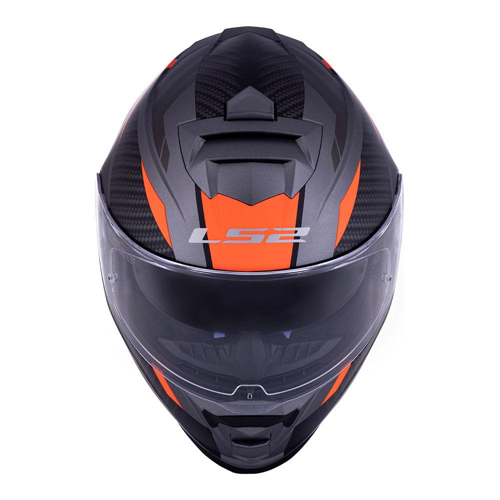 CAPACETE LS2 FF800 STORM RACER TITANIUM LARANJA