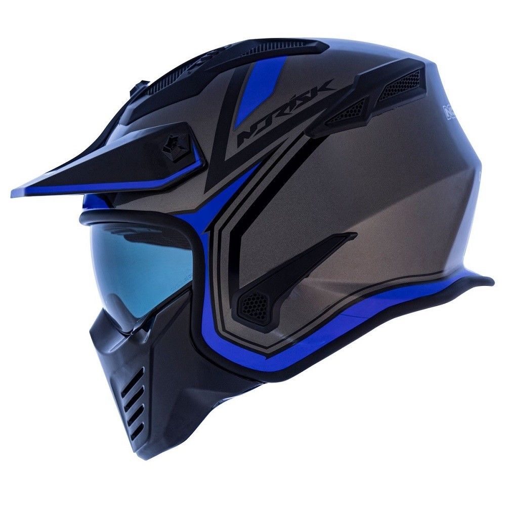 CAPACETE NORISK DARTH OUTLINE MATT TITANIO AZUL