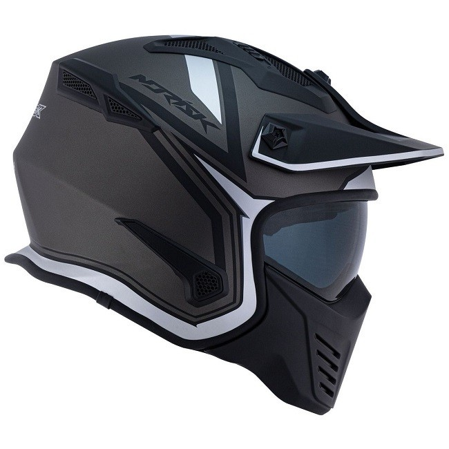 CAPACETE NORISK DARTH OUTLINE MATT TITANIO PRATA