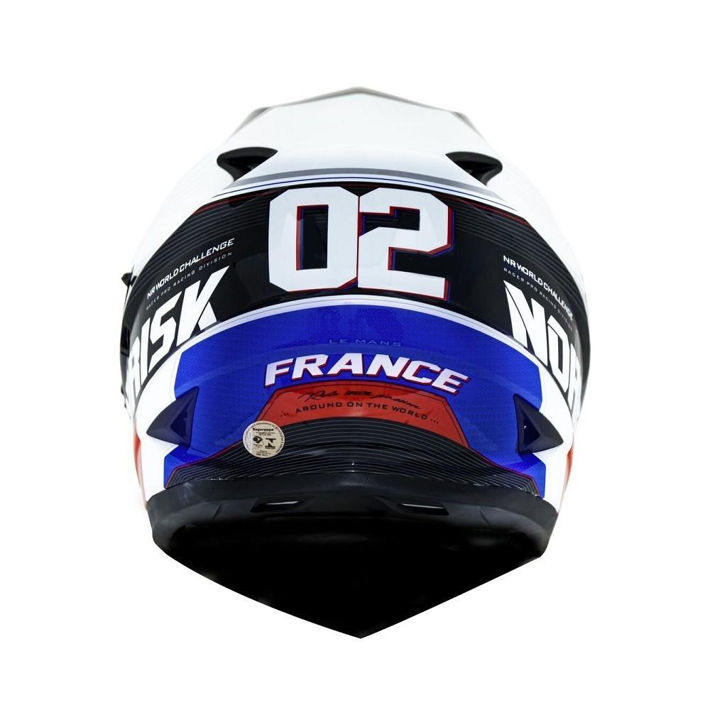 CAPACETE NORISK FF302 SOUL GP FRANCE BRANCO AZUL VERMELHO