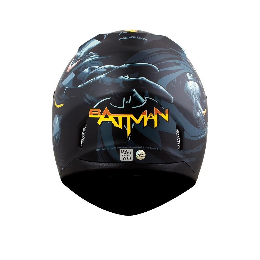 CAPACETE NORISK FF391 STUNT BATMAN HERO PRETO 58