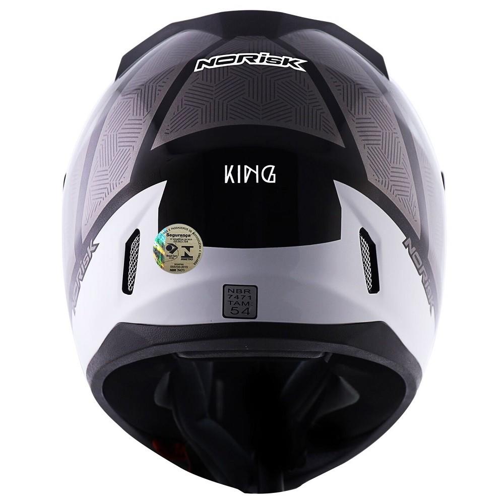 CAPACETE NORISK FF391 STUNT KING BRANCO CINZA PRETO