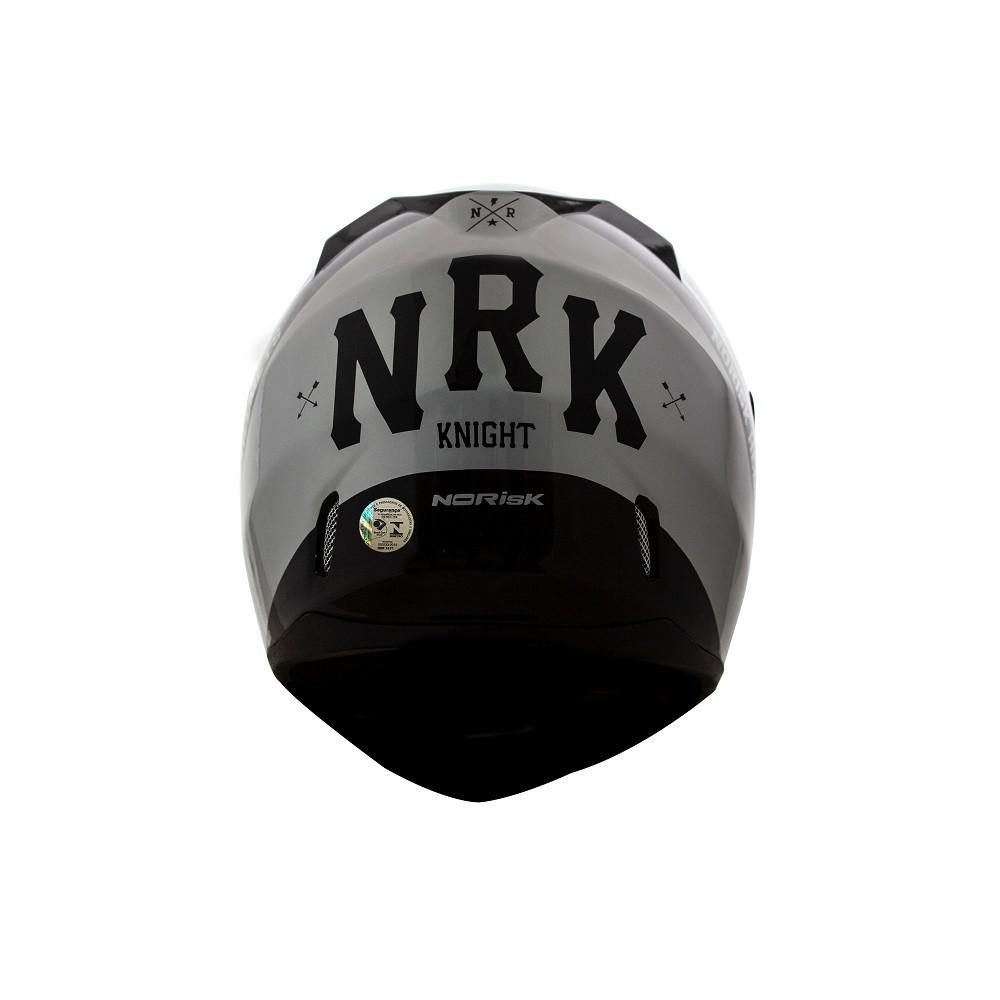 CAPACETE NORISK FF391 STUNT KNIGHT PRETO CINZA