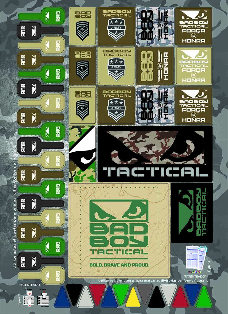 Caderno Bad Boy Tactical 300 folhas