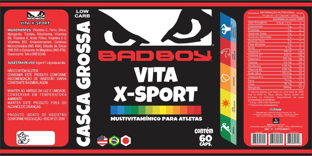 Multivitamínico Vita X Sports Bad Boy