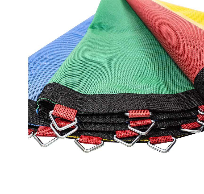 Lona de Salto para Cama Elástica de 2,44 m com 48 Ganchos Quadricolor Canguri