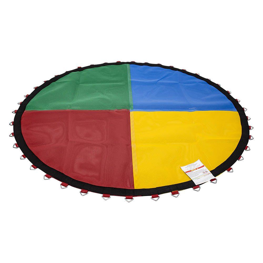Lona de Salto para Cama Elástica de 2 m com 42 Ganchos Quadricolor Canguri