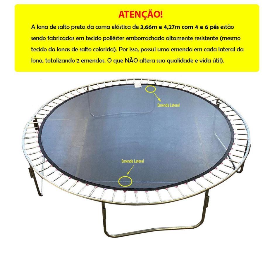 LONA DE SALTO QUADRICOLOR CANGURI CAMA ELÁSTICA 4,27M DE 88 molas