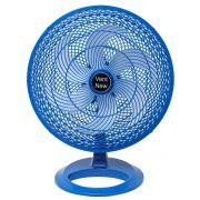 Ventilador De Mesa Oscilante 50 cm Azul / Branco Bivolt