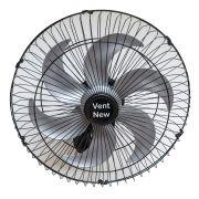 Ventilador Parede Oscilante 50 Cm Preto / Prata Bivolt Grade Aço