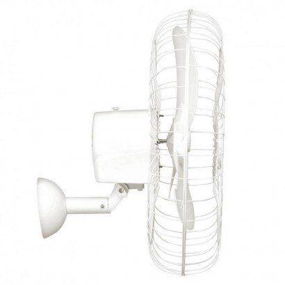 Kit 2 Ventiladores Parede Bivolt Branco Oscilante 60 Cm