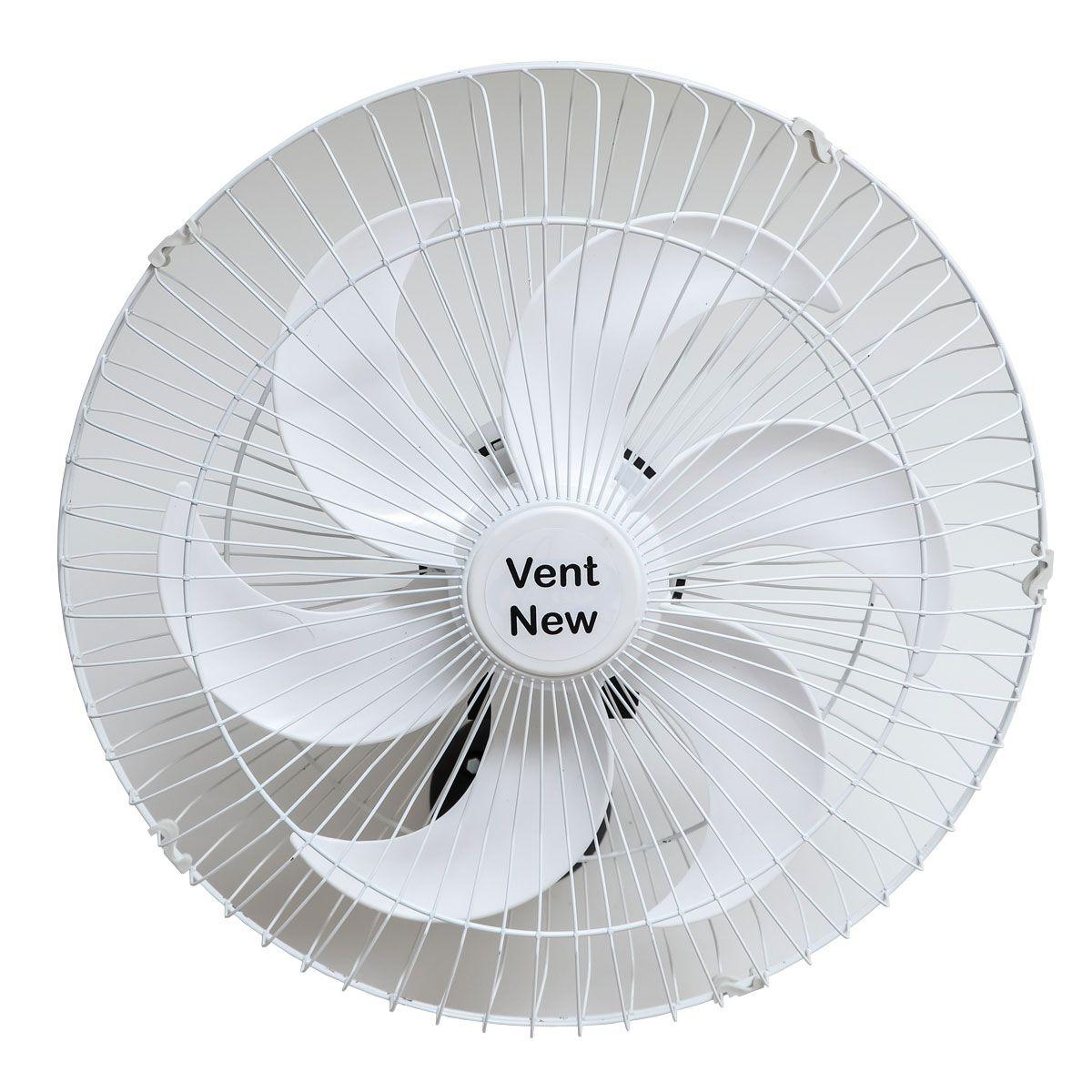 Kit 2 Ventiladores Parede Oscilante 50 Cm Branco / Branco Bivolt Grade Aço