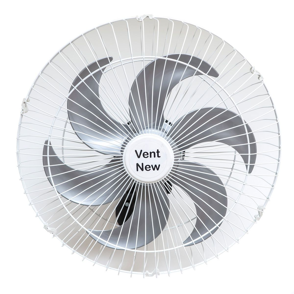 Kit 2 Ventiladores Parede Oscilante 50 Cm Branco / Prata Bivolt Grade Aço