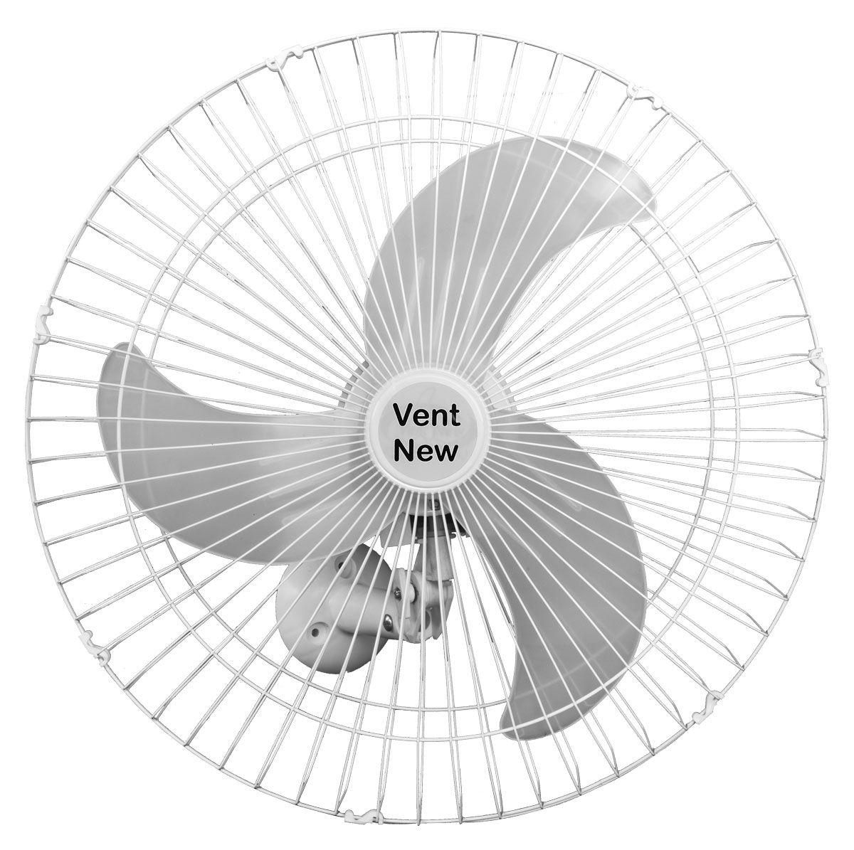 Kit 4 Ventiladores Parede Bivolt Branco Oscilante 60 Cm