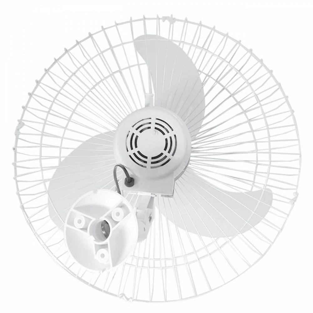 Kit 5 Ventiladores Parede Bivolt Branco Oscilante 60 Cm