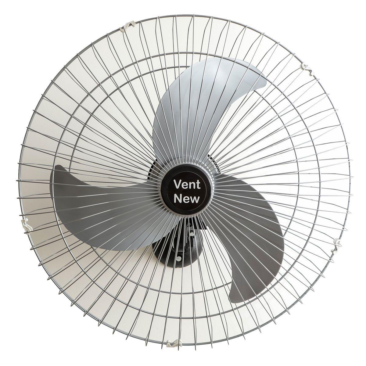 Kit 5 Ventiladores Parede Bivolt Prata Oscilante 60 Cm