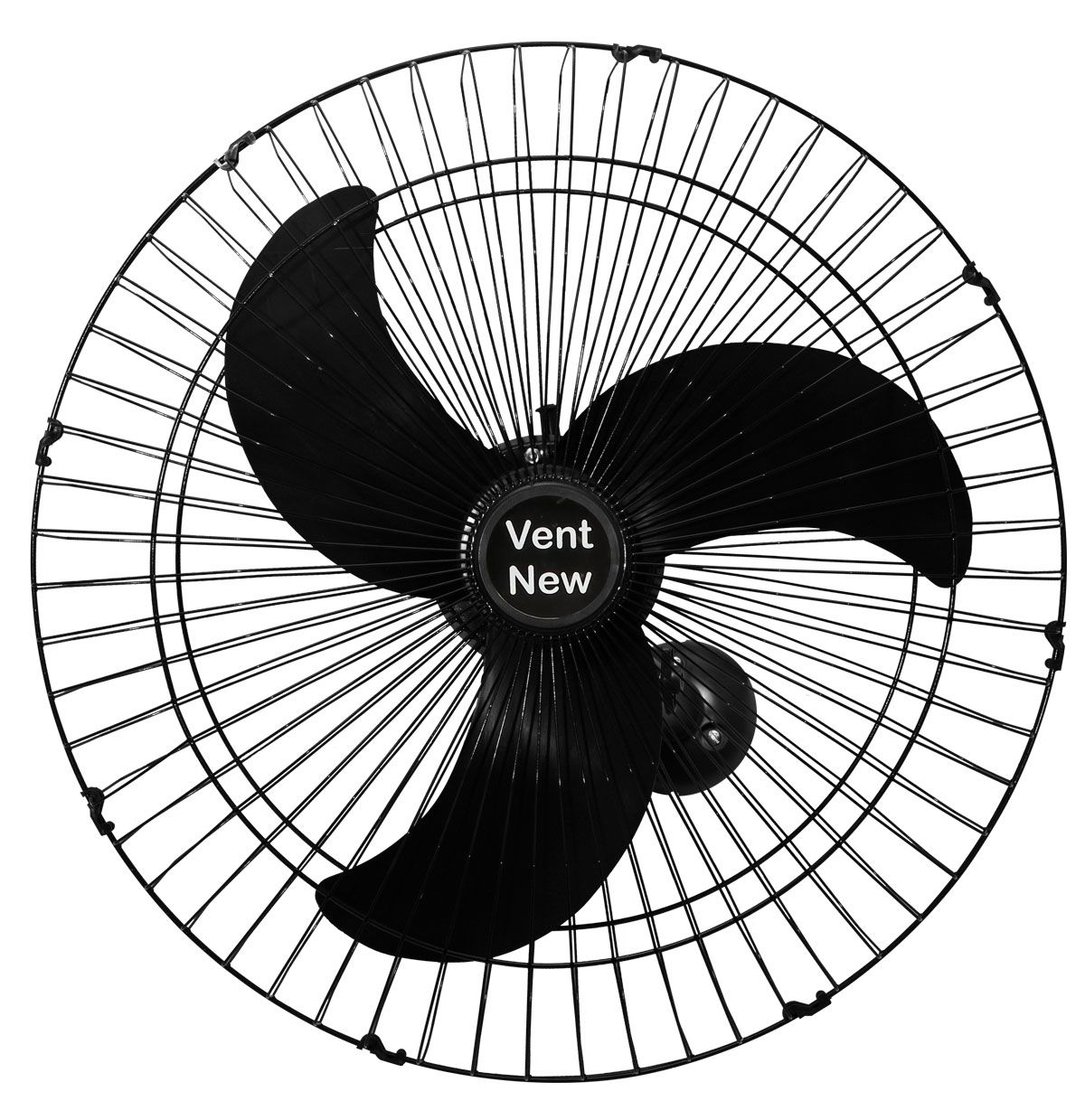 Kit 6 Ventiladores Parede Bivolt Preto Oscilante 60 Cm