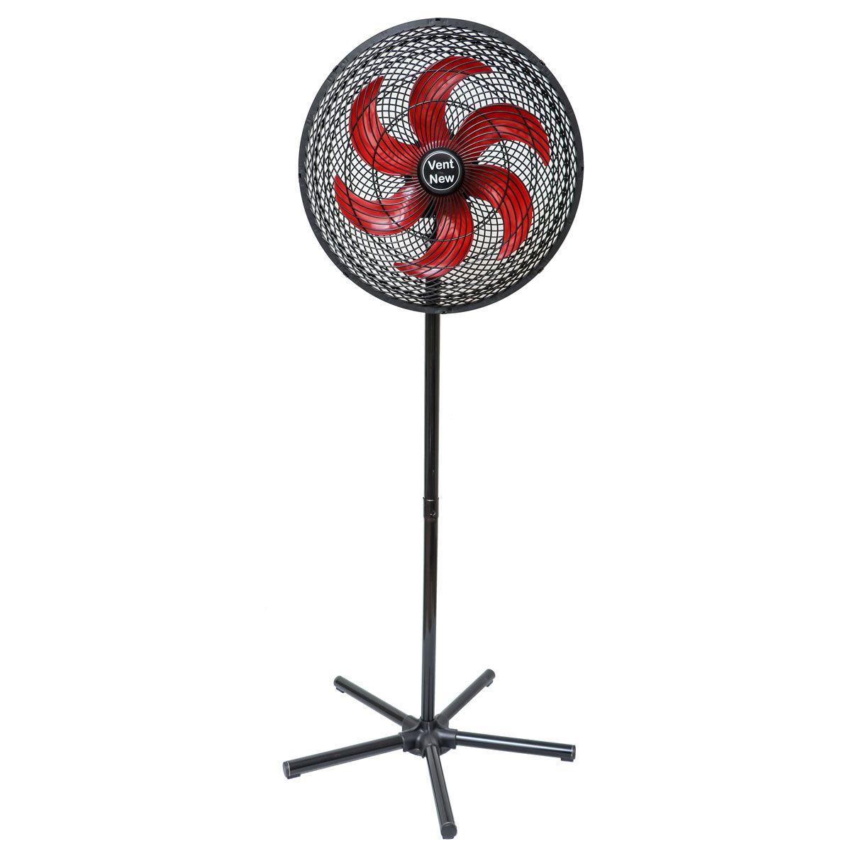 Ventilador De Coluna Oscilante 50 Cm Preto / Vermelho Bivolt