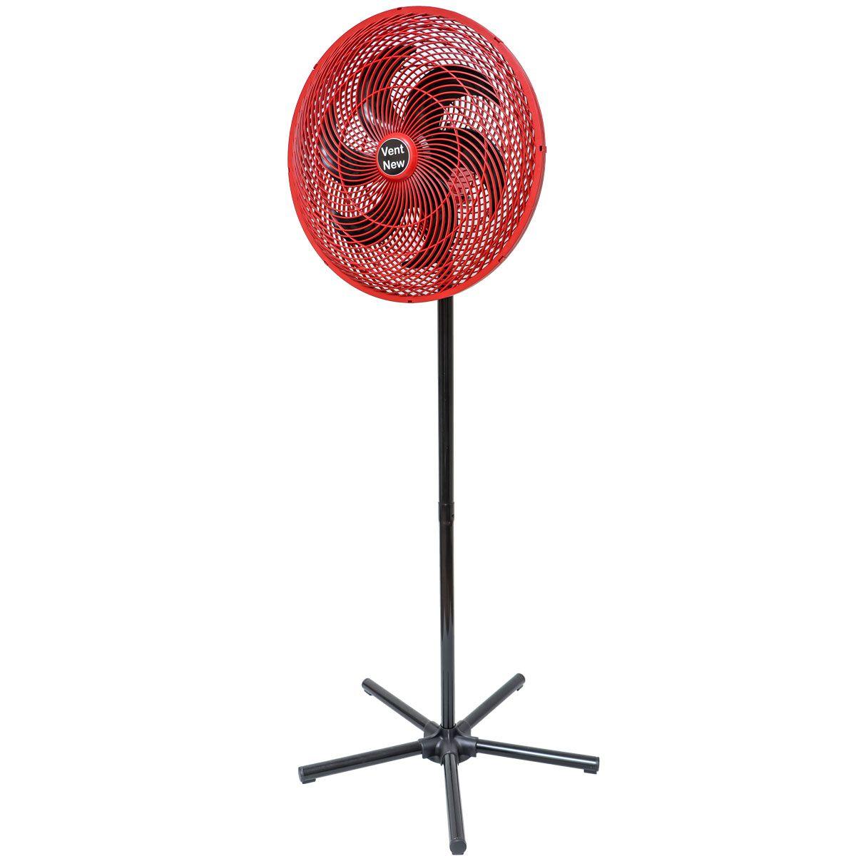 Ventilador De Coluna Oscilante 50 Cm Vermelho / Preto Bivolt