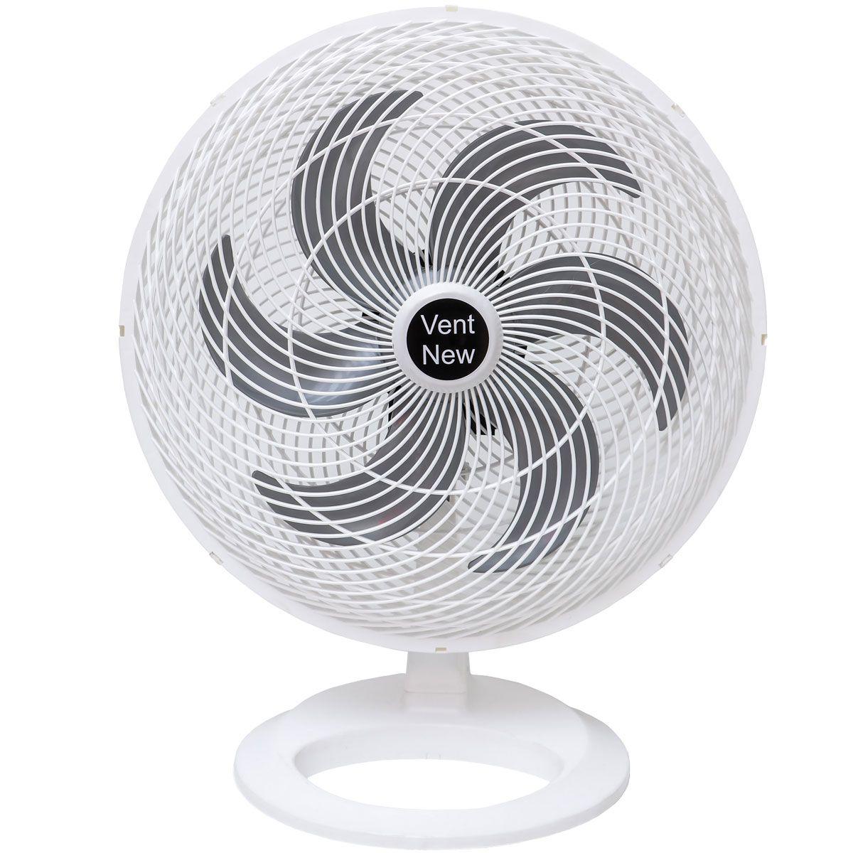 Ventilador De Mesa Oscilante 50 cm Branco / Prata Bivolt