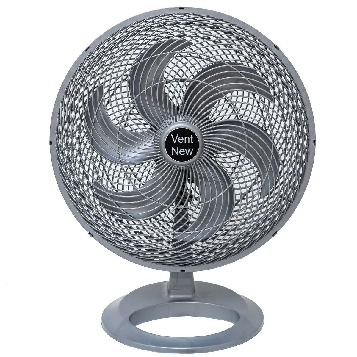 Ventilador De Mesa Oscilante 50 cm Prata / Prata Bivolt