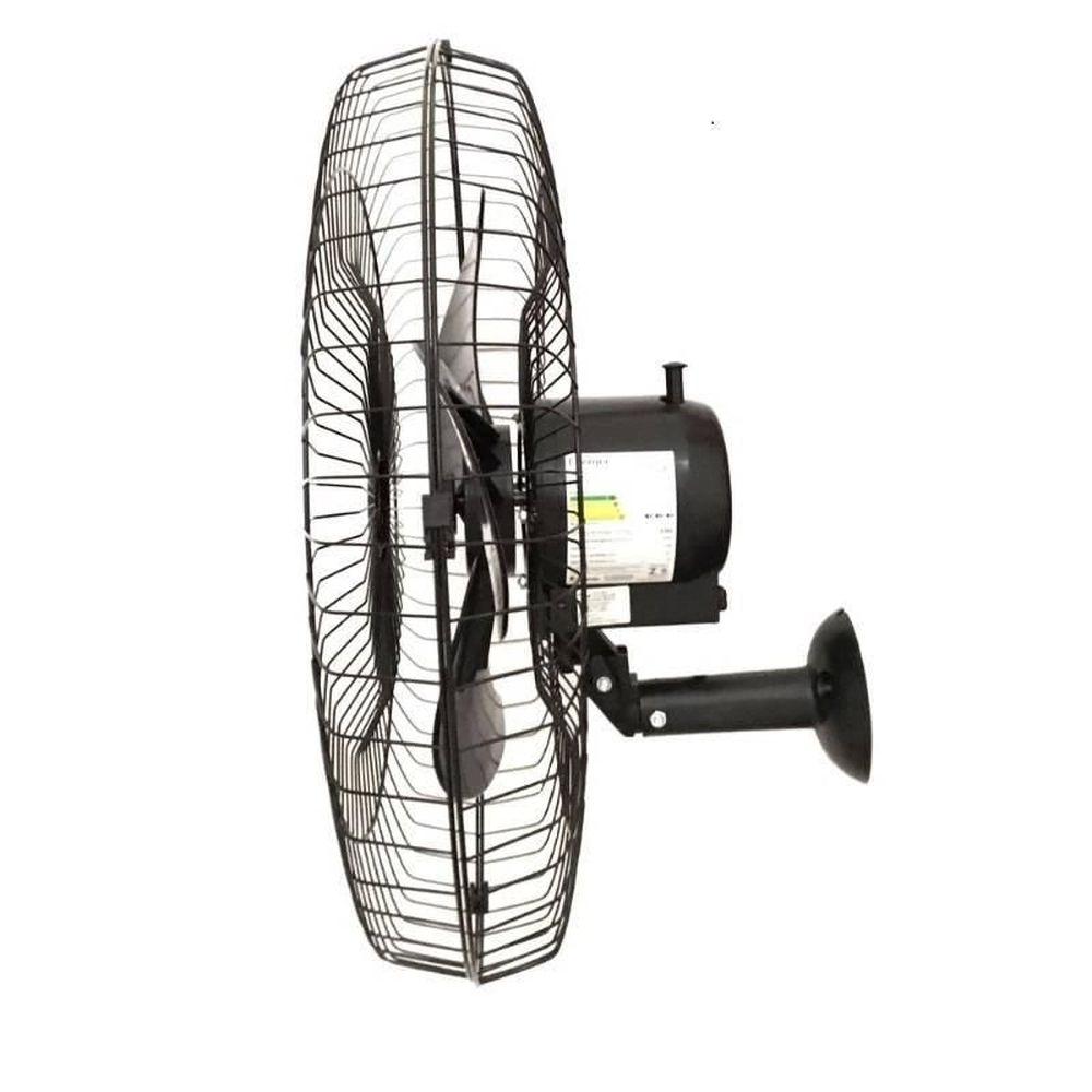 Ventilador de Parede Oscilante 60 cm Bivolt Preto