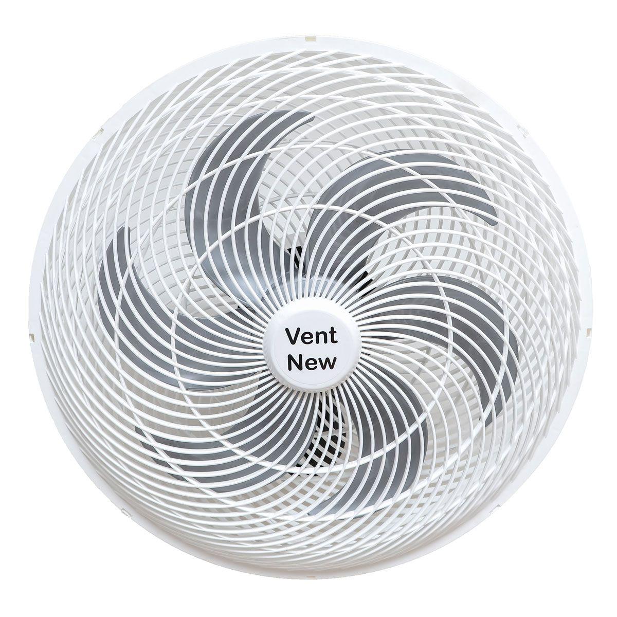 Ventilador Parede Oscilante 50 Cm Branco / Prata Bivolt