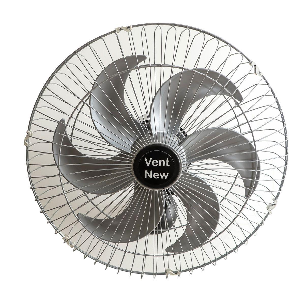 Ventilador Parede Oscilante 50 Cm Prata / Prata Bivolt Grade Aço