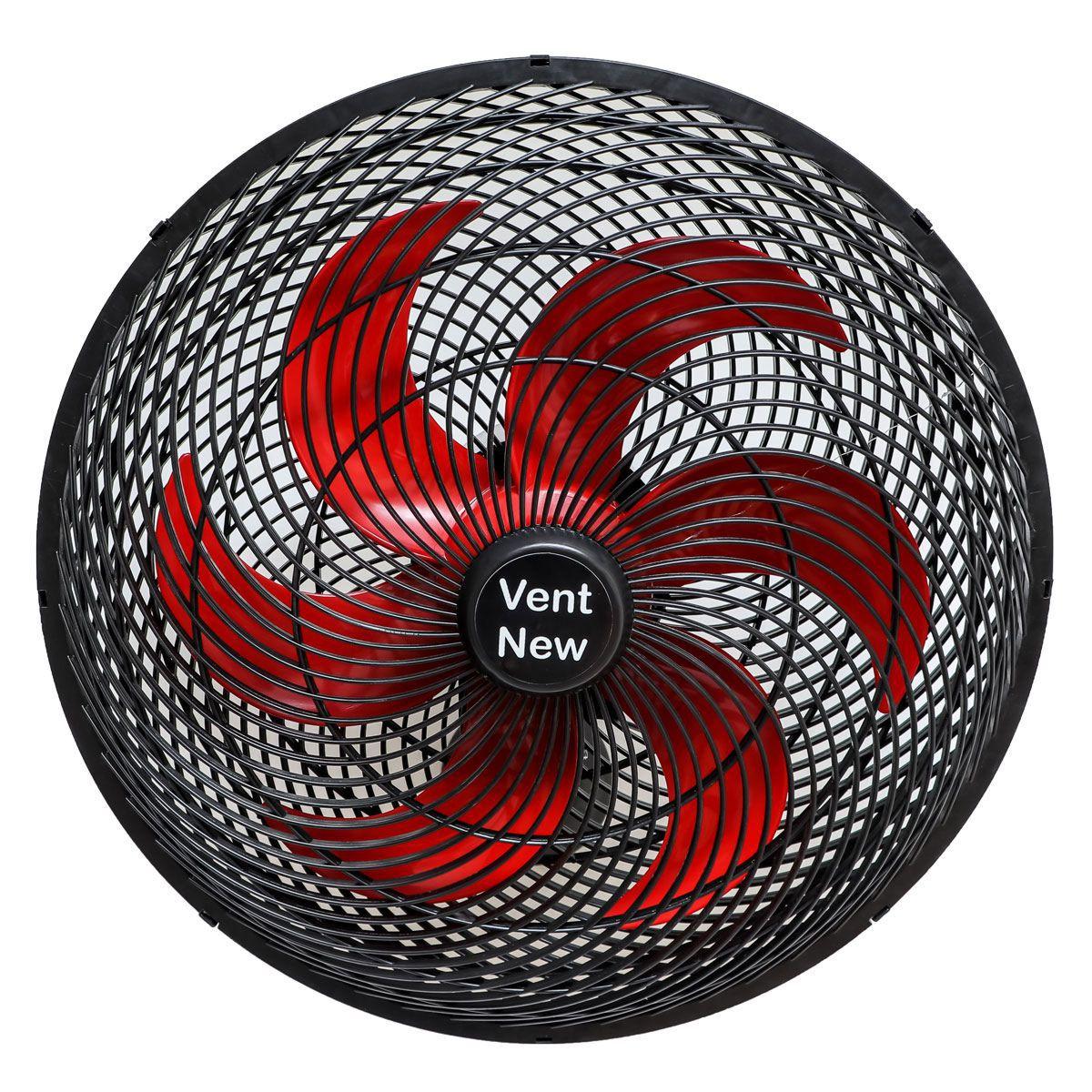 Ventilador Parede Oscilante 50 Cm Preto / Vermelho Bivolt