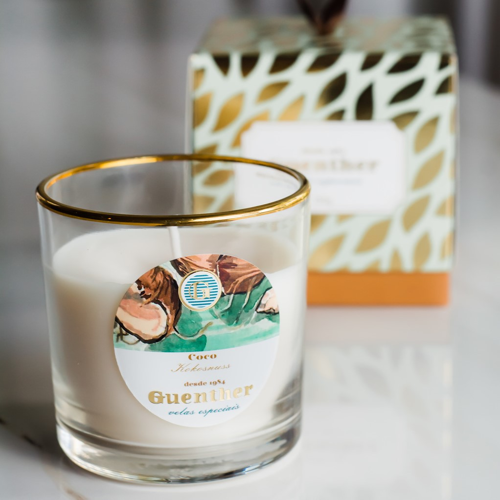 Vela Perfumada Copo Aroma Coco 150g