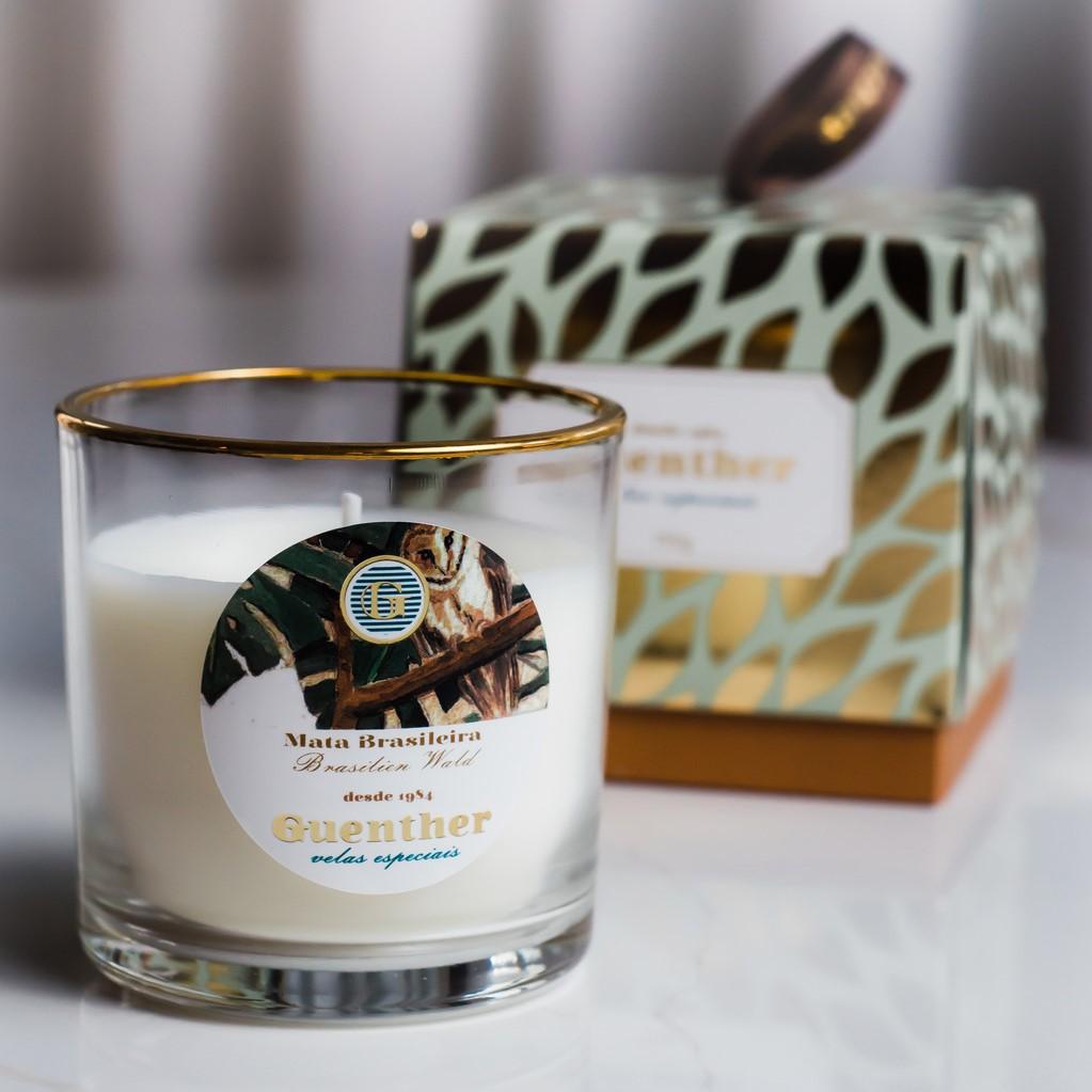 Vela Perfumada Copo Aroma Mata Brasileira 150g