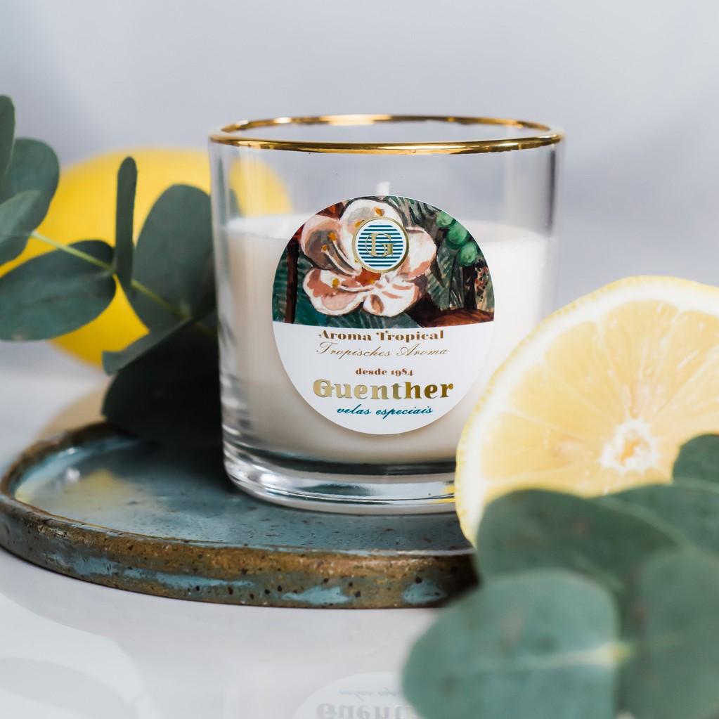 Vela Perfumada Copo Aroma Tropical 150g
