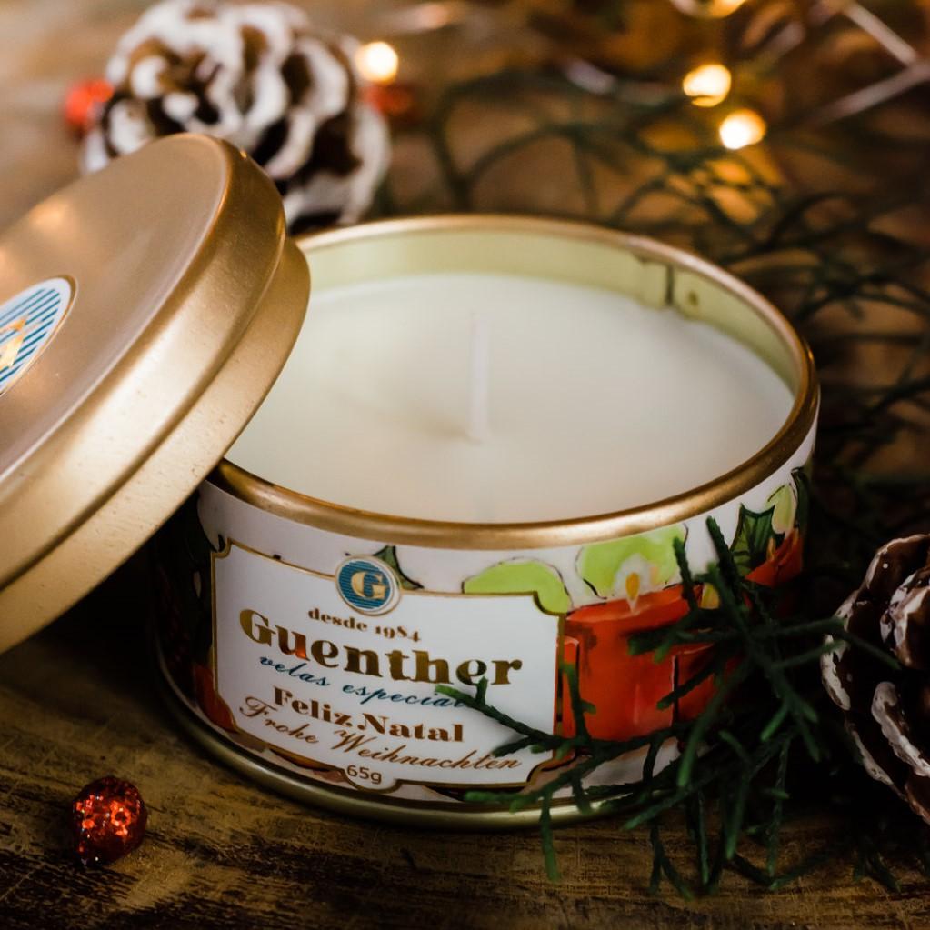 Vela Perfumada Lata Aroma Feliz Natal 65g