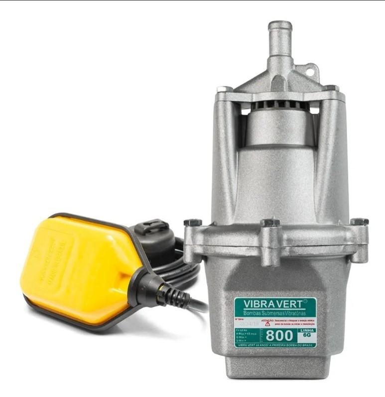 Bomba Poço Vibra Vert Sapo 800 220v + Boia 2 Anos Garantia