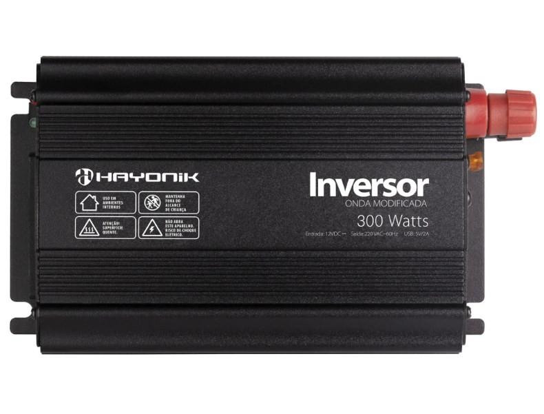 Inversor 300w 12vdc/220v Usb Modificada Pw Hayonik