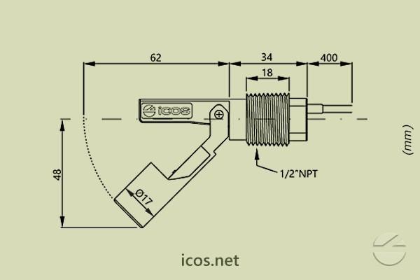 Sensor de Nivel  LA22N-40
