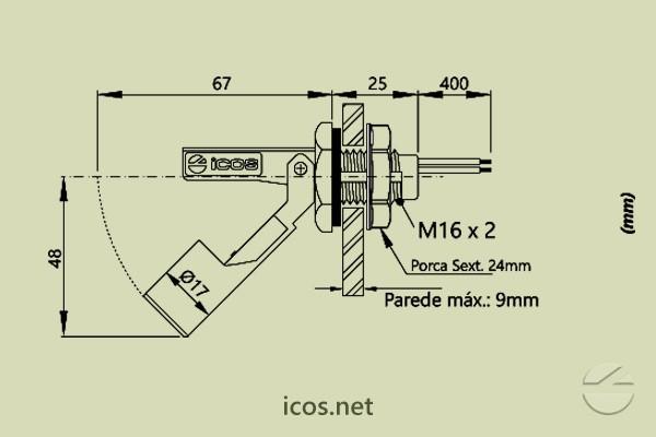 Sensor de Nivel LA36M-40