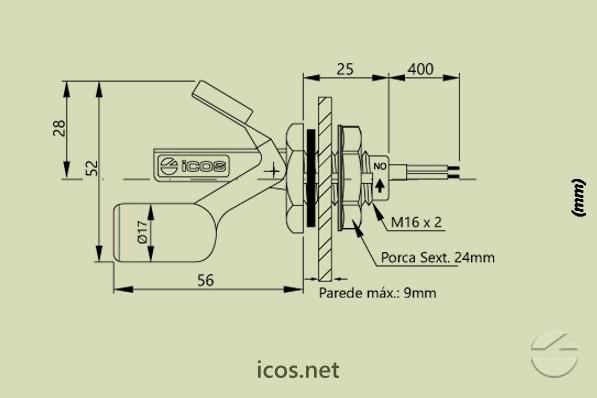 Sensor de Nivel LB26M-40
