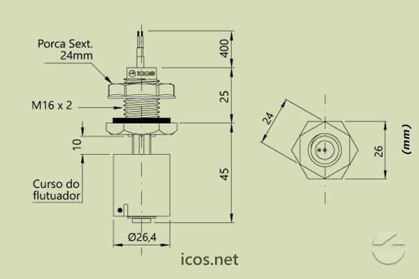 Sensor de Nivel LC36M-40