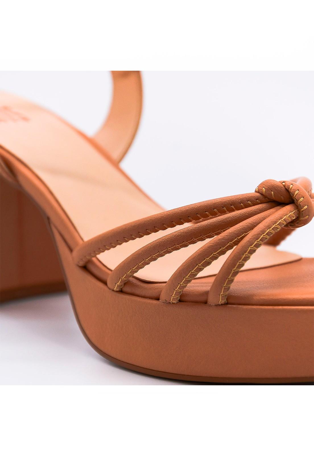 Sandália couro meia-pata pele Hits