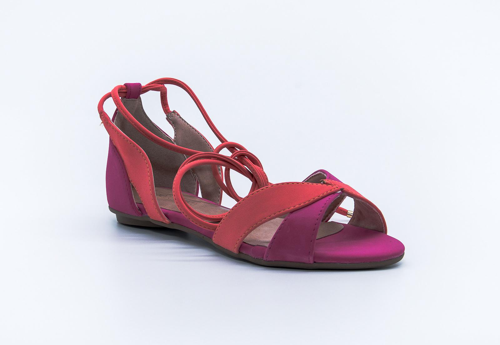 Sandália pink e coral Bendito Sapato