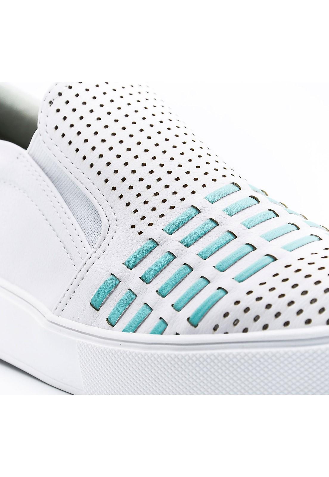 Slip-on branco e verde Bendito Sapato