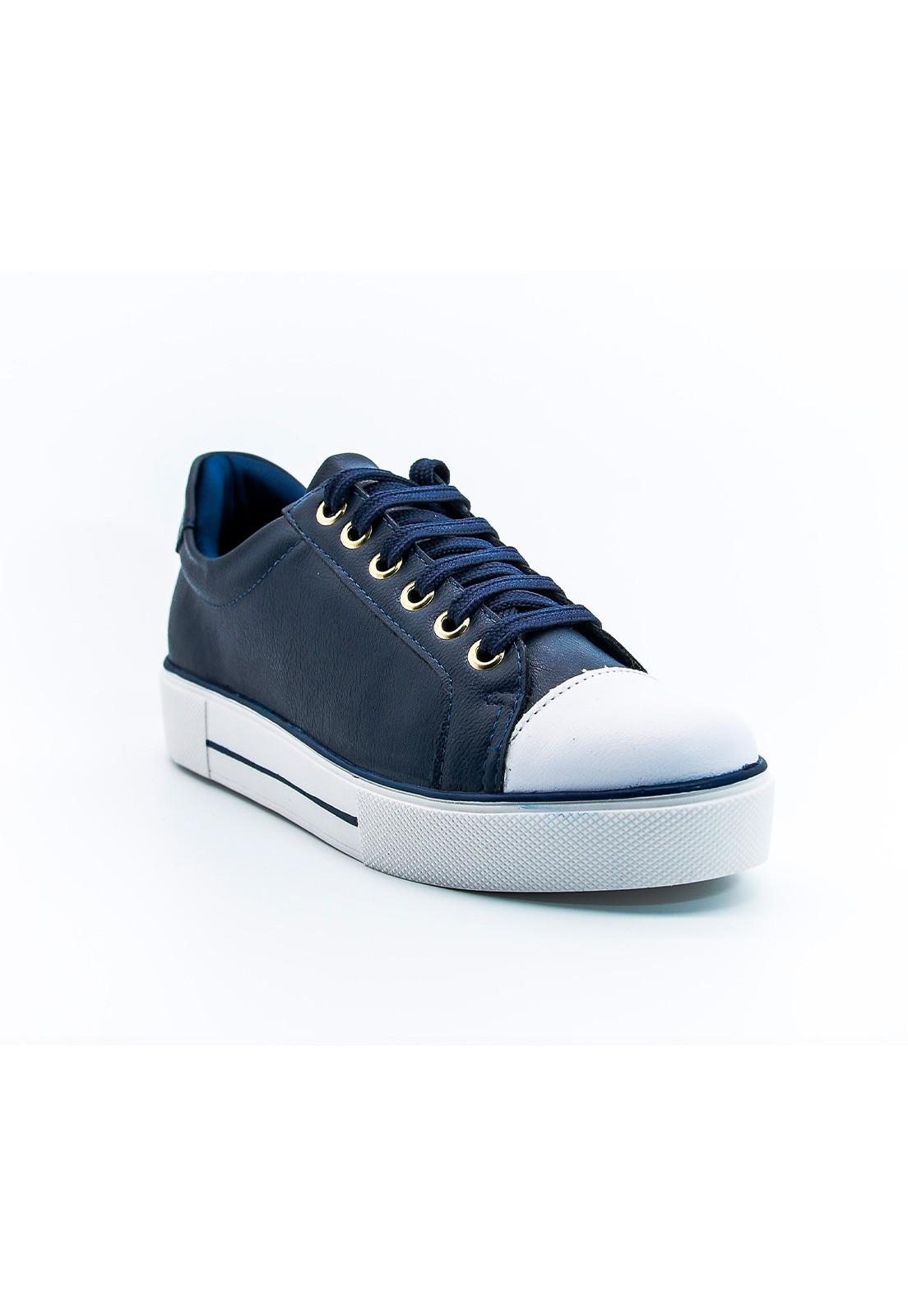 Tênis casual azul marinho Bendito Sapato