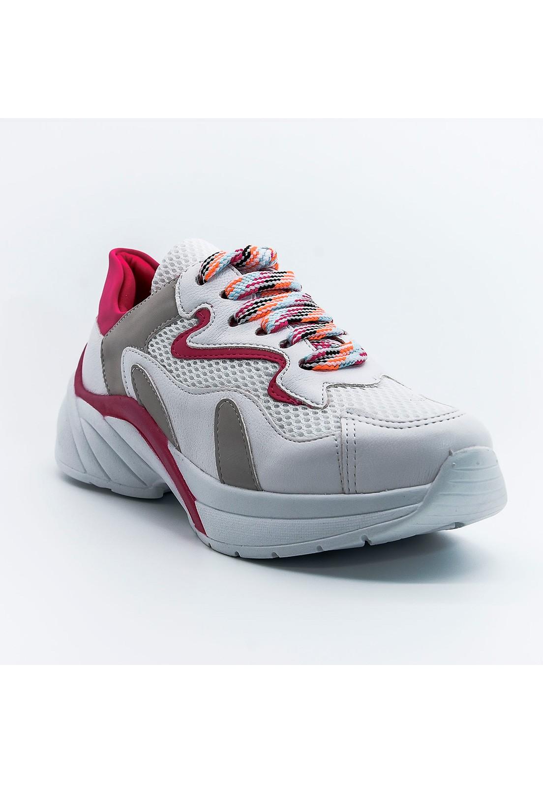 Tênis chunky branco e pink Bendito Sapato