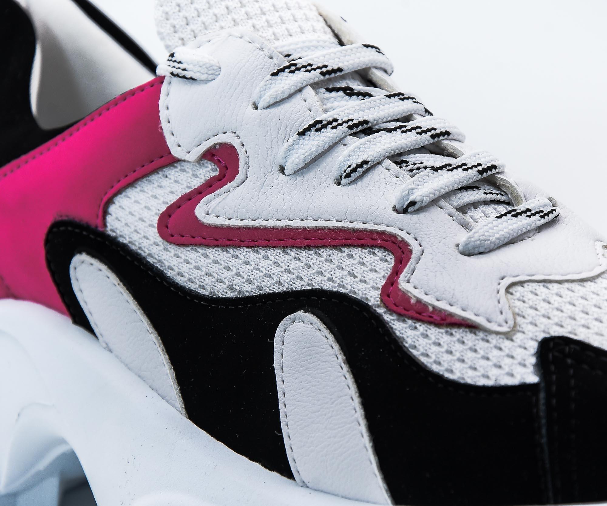 Tênis chunky pink e preto Bendito Sapato
