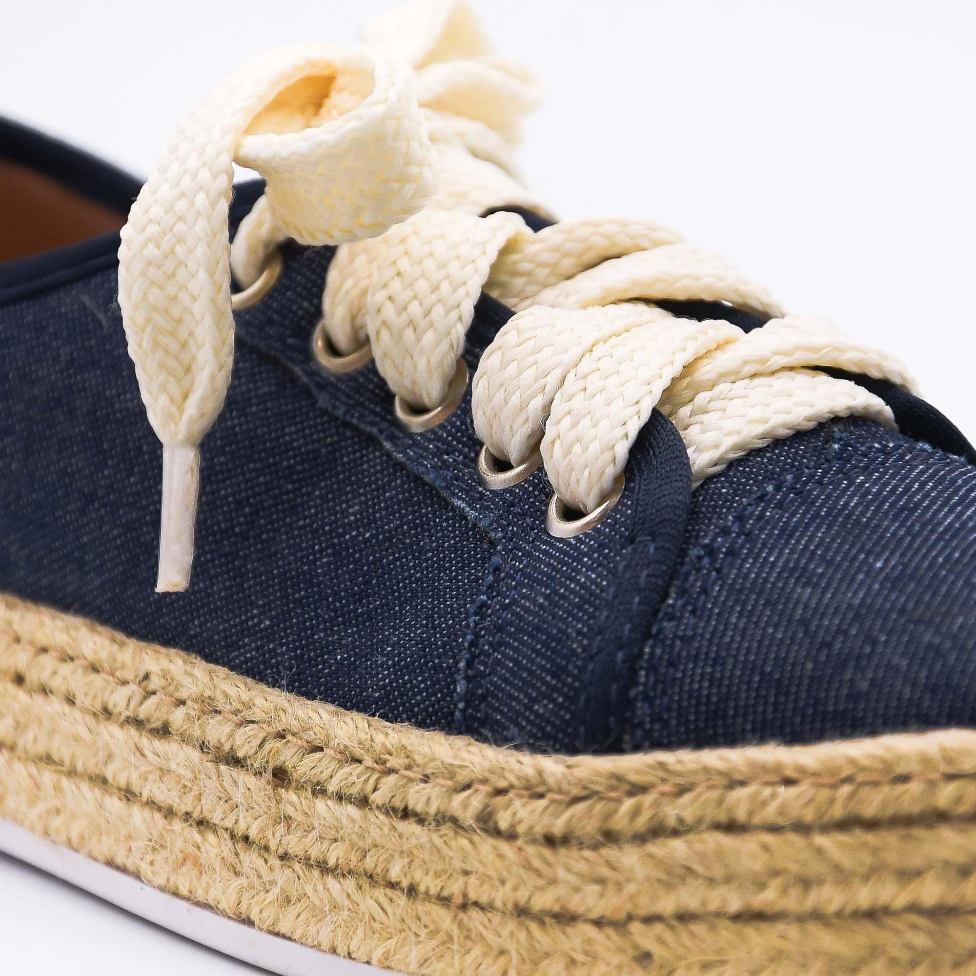 Tênis flatform jeans Bendito Sapato
