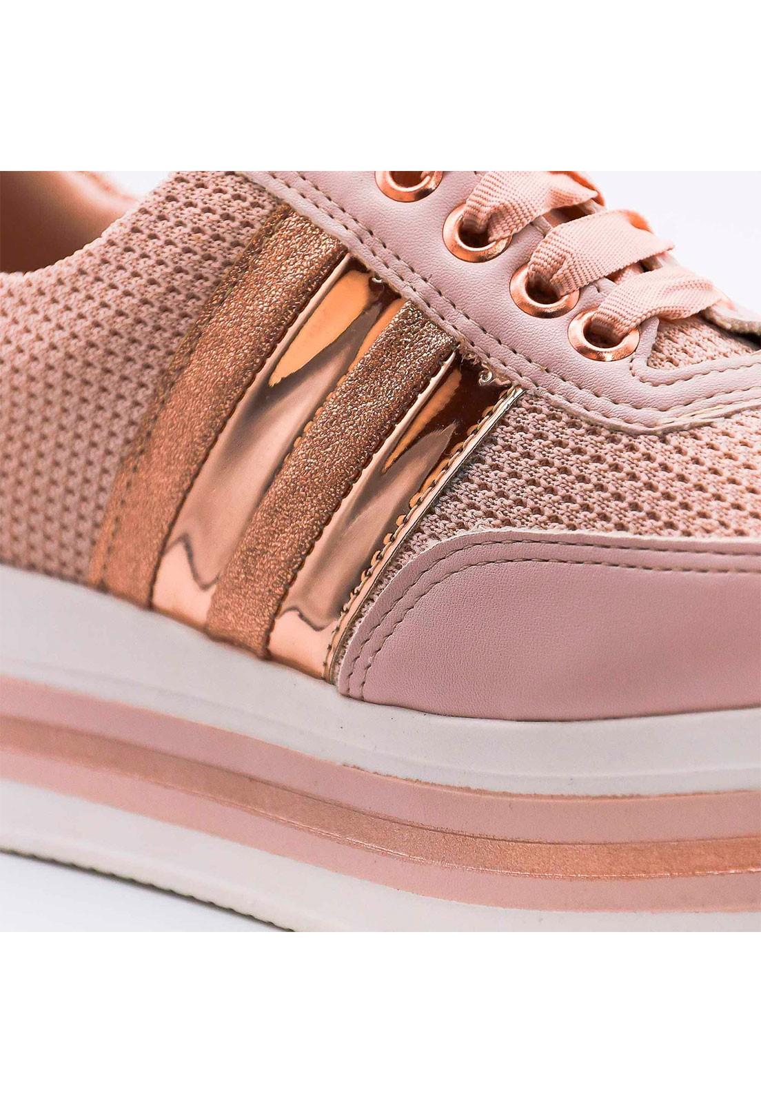 Tênis rosé metalizado bronze Bendito Sapato
